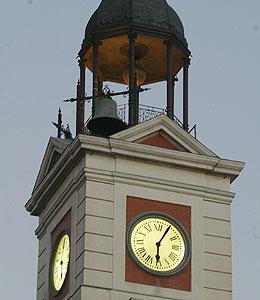 Un reloj digital sustituir en 2012 al tradicional de la for Reloj puerta del sol madrid